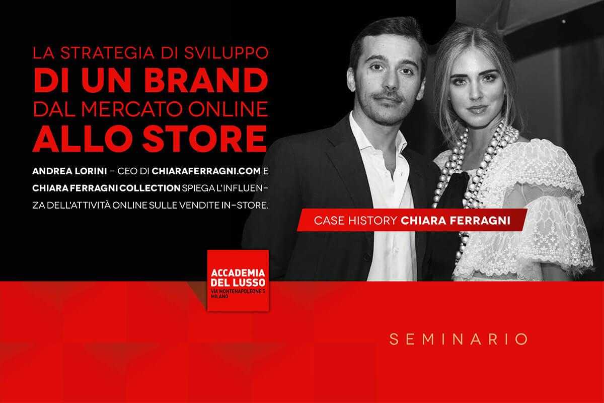 INCONTRO CON ANDREA LORINI – CASE HISTORY: CHIARA FERRAGNI – 01/03/2018, MILANO