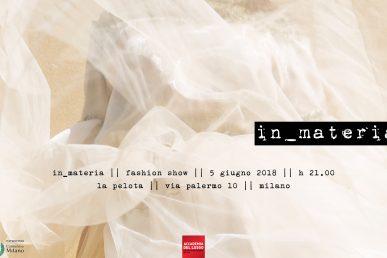 In_materia | Accademia Del Lusso Fashion Show | Value To The Talent