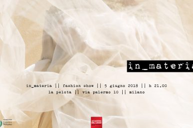 In_materia | Accademia Del Lusso Fashion Show | Value To The Talent